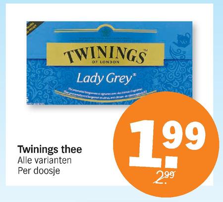 Twinings   thee folder aanbieding bij  AlbertHeijn - details