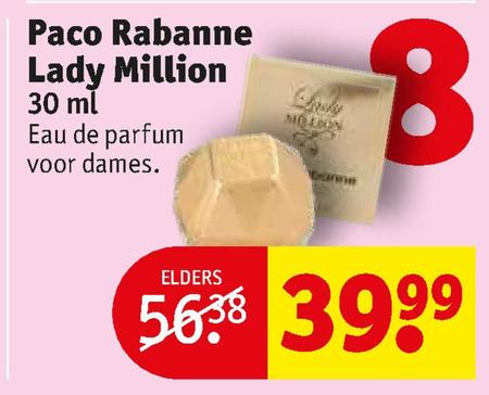 Paco Rabanne   eau de parfum folder aanbieding bij  Kruidvat - details