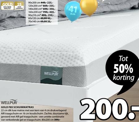 Wellpur   matras folder aanbieding bij  Jysk - details