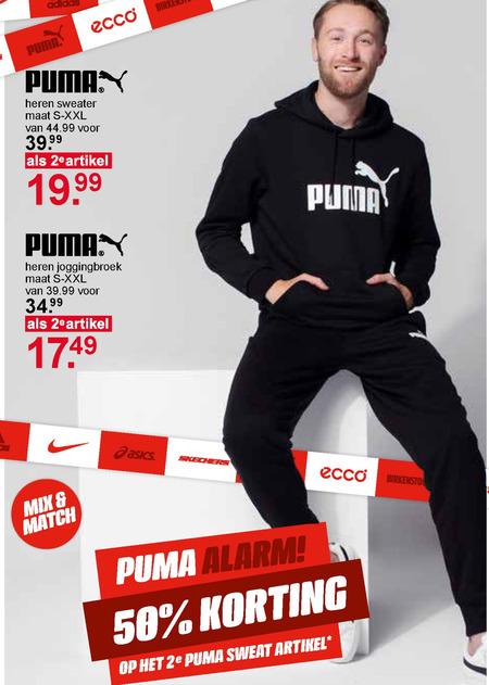 Puma heren sweater, heren joggingbroek folder aanbieding bij ...