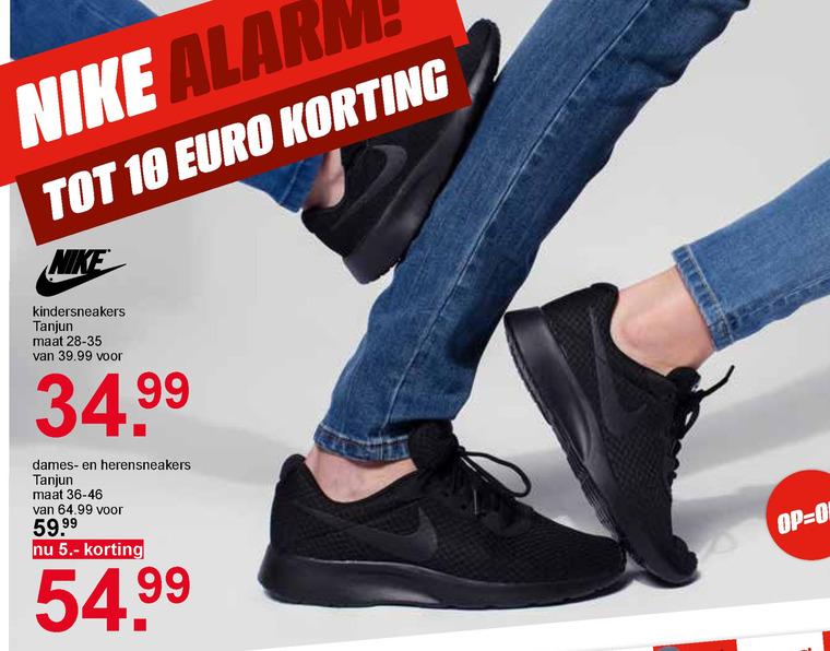 Nike heren sneakers, jongens sneakers folder aanbieding bij