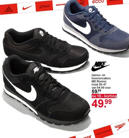 Nike dames sneakers, heren sneakers folder aanbieding bij