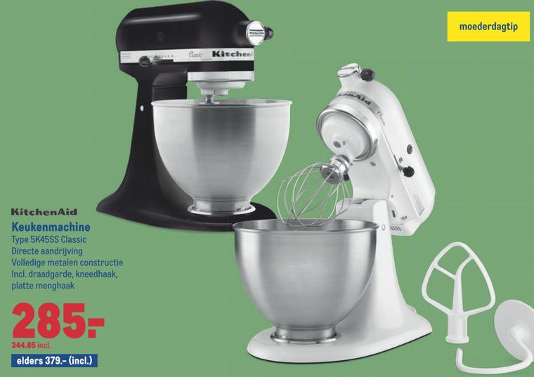 KitchenAid   keukenmachine folder aanbieding bij  Makro - details