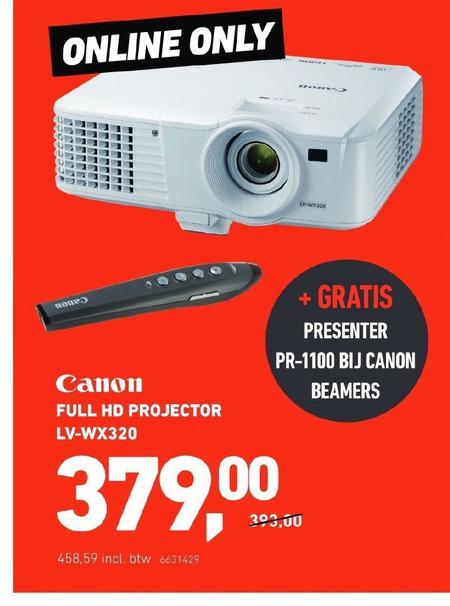 Canon   beamer folder aanbieding bij  OfficeCentre - details