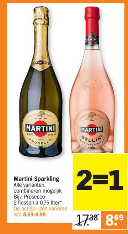 Martini   champagne sparkling wijn, prosecco folder aanbieding bij  AlbertHeijn - details