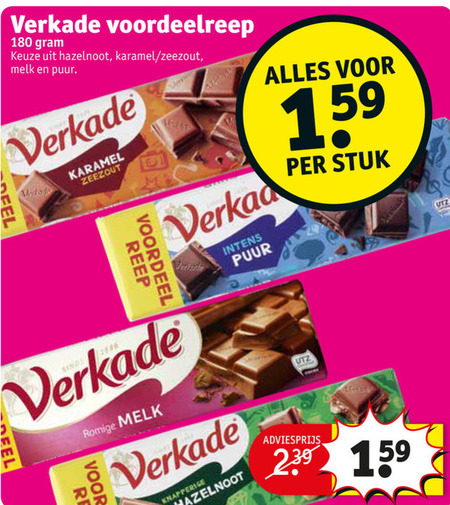 Verkade   chocolade folder aanbieding bij  Kruidvat - details