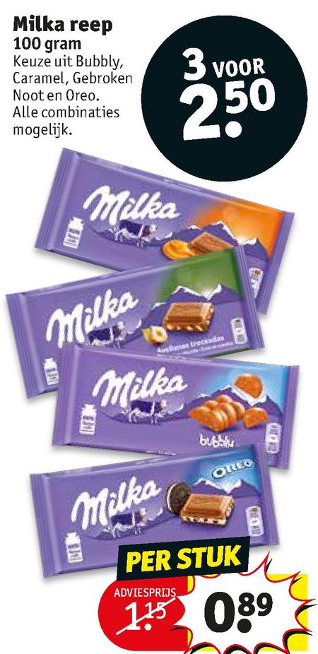 Milka   chocolade folder aanbieding bij  Kruidvat - details