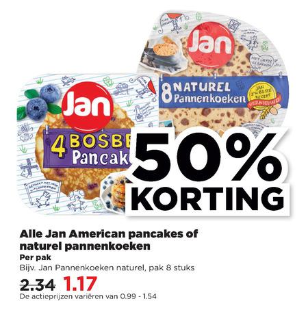 Jan   pannenkoek folder aanbieding bij  Plus - details