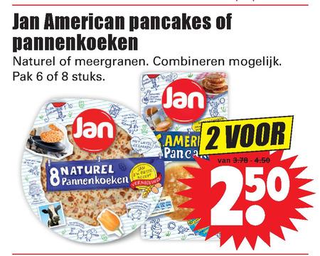 Jan   pannenkoek folder aanbieding bij  Dirk - details