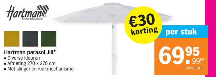 Hartman   parasol folder aanbieding bij  AlbertHeijn - details