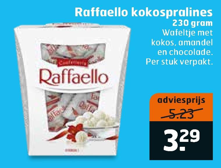 Rafaello   chocolade folder aanbieding bij  Trekpleister - details