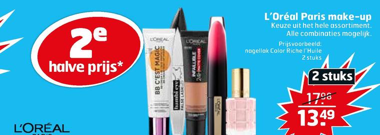 L Oreal   mascara, nagellak folder aanbieding bij  Trekpleister - details