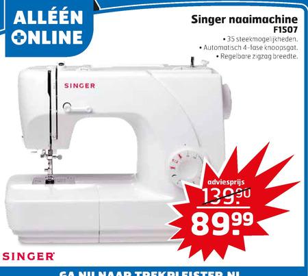 Singer   naaimachine folder aanbieding bij  Trekpleister - details