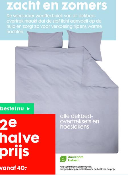 Hema huismerk   dekbedovertrek, hoeslaken folder aanbieding bij  Hema - details