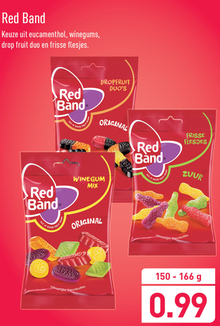Red Band   drop, winegums folder aanbieding bij  Aldi - details