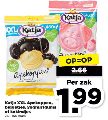 Katja   snoep, drop folder aanbieding bij  Plus - details