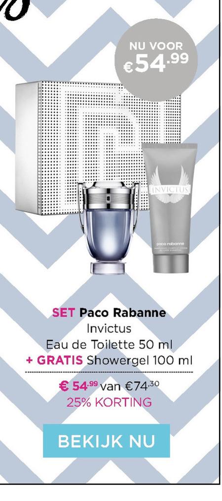 Paco Rabanne   parfum geschenkset folder aanbieding bij  IciParisXL - details