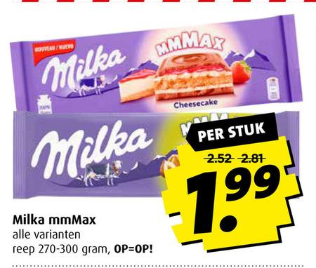 Milka   chocolade folder aanbieding bij  Boni - details