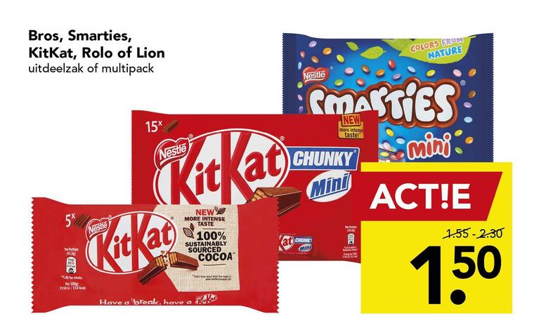 KitKat   chocoladereep folder aanbieding bij  Deen - details