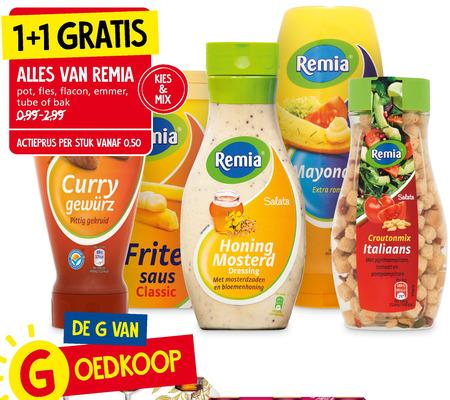 Remia   dressing, curryketchup folder aanbieding bij  JanLinders - details