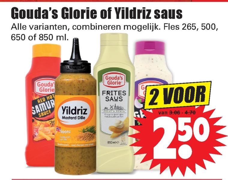 Yildriz   mayonaise, snacksaus folder aanbieding bij  Dirk - details