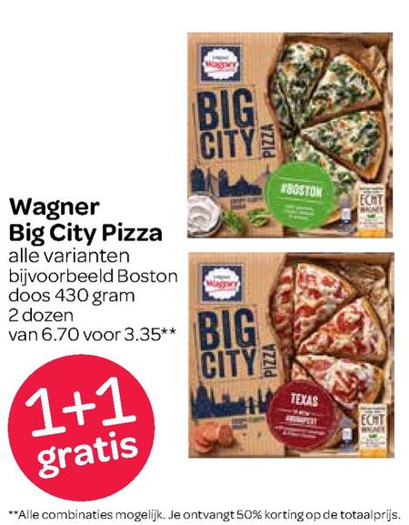 Wagner   diepvriespizza folder aanbieding bij  Spar - details