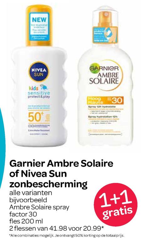 Ambre Solaire   zonnebrandolie, aftersun folder aanbieding bij  Spar - details