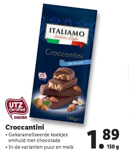 Italiamo   chocolade folder aanbieding bij  Lidl - details