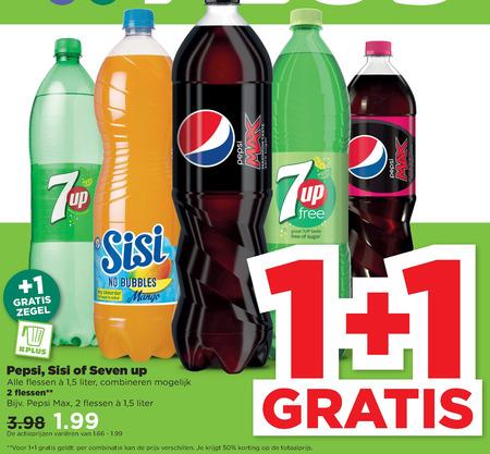 Pepsi   cola, frisdrank folder aanbieding bij  Plus - details