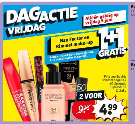 Rimmel   mascara, foundation folder aanbieding bij  Kruidvat - details
