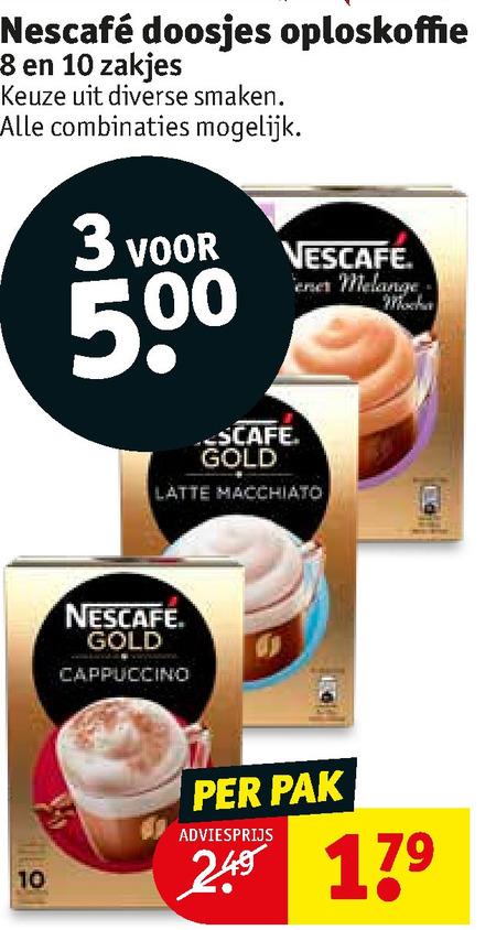 Nescafe   oploskoffie folder aanbieding bij  Kruidvat - details