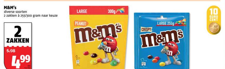 M en Ms   chocoladepindas, chocolade folder aanbieding bij  Poiesz - details