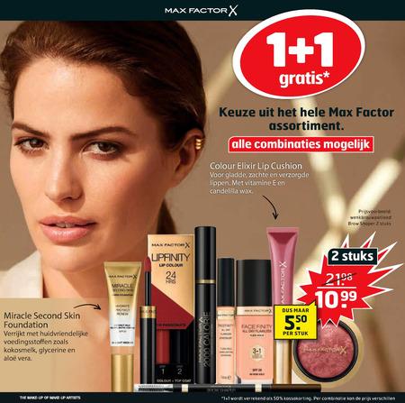 Max Factor   lipgloss, gezichtspoeder folder aanbieding bij  Trekpleister - details