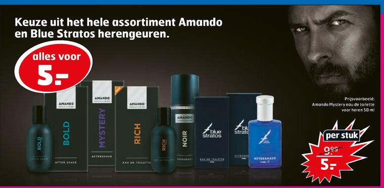 Amando   aftershave, eau de toilette folder aanbieding bij  Trekpleister - details