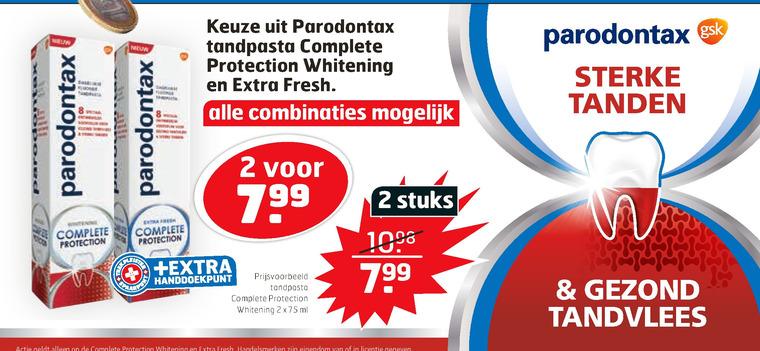 Paradontax   tandpasta folder aanbieding bij  Trekpleister - details
