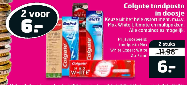 Colgate   tandpasta folder aanbieding bij  Trekpleister - details
