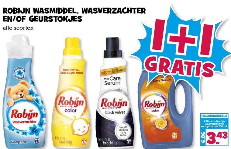 Robijn   wasverzachter, wasmiddel folder aanbieding bij  BoonsMarkt - details