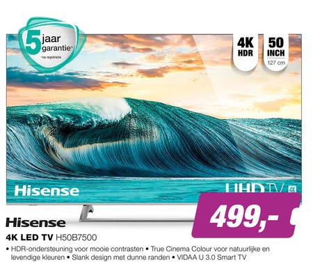 Hisense   4k ultrahd televisies folder aanbieding bij  EPElectronicPartner - details