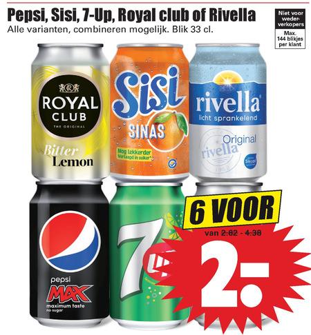 Sisi   frisdrank, cola folder aanbieding bij  Dirk - details