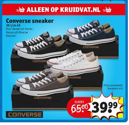 Converse heren sneakers, dames sneakers folder aanbieding ...