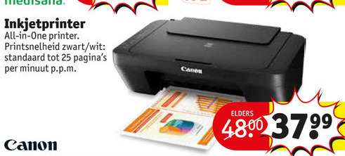 Canon   all-in-one printer folder aanbieding bij  Kruidvat - details