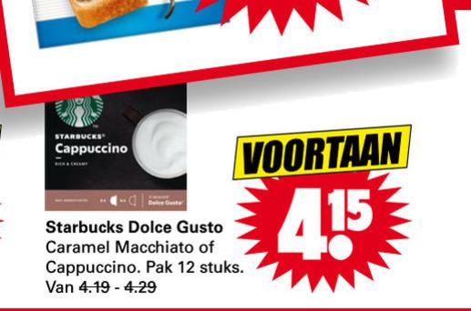 Starbucks   dolce gusto capsules folder aanbieding bij  Dirk - details