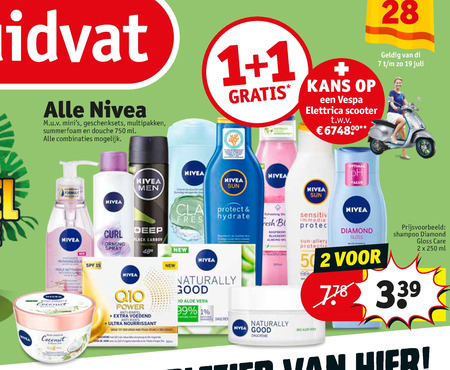 Nivea   douchegel, shampoo folder aanbieding bij  Kruidvat - details