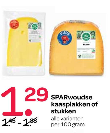 Sparwoudse   kaasplakken, kaas folder aanbieding bij  Spar - details