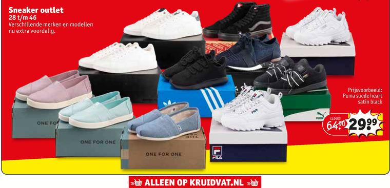 heren sneakers, dames sneakers folder aanbieding bij ...
