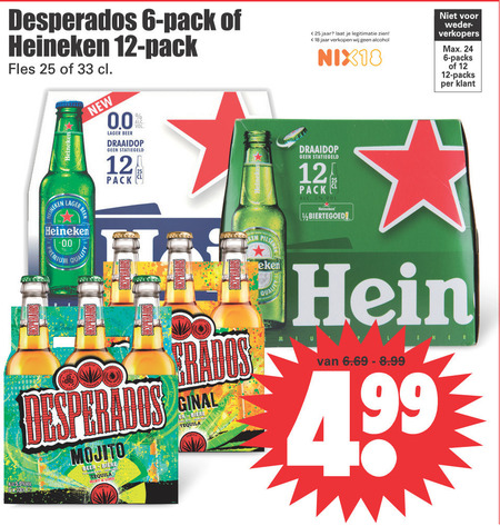 Heineken Flesje Bier Alcoholvrij Bier Folder Aanbieding Bij Dirk Details
