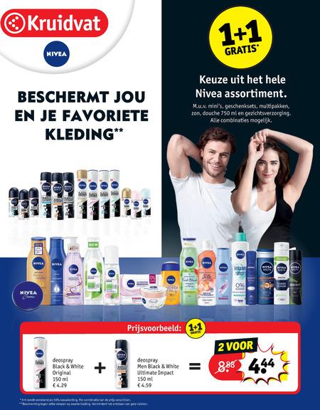 Nivea   gezichtsverzorging, shampoo folder aanbieding bij  Kruidvat - details