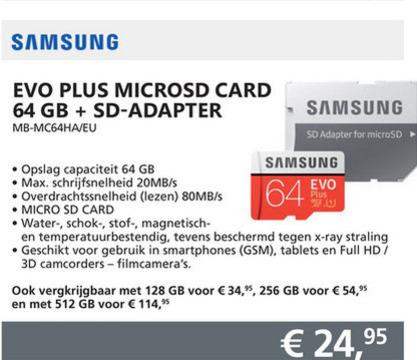 Samsung   microsd geheugenkaart folder aanbieding bij  Informatique - details