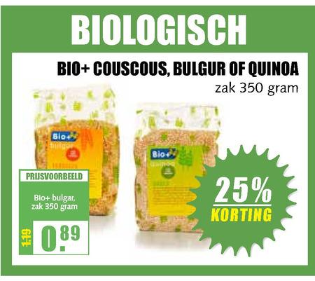 Bio Plus   couscous, bulgur folder aanbieding bij  MCDSupermarktBasis - details