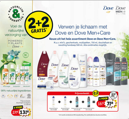 Dove   deodorant, douchegel folder aanbieding bij  Kruidvat - details